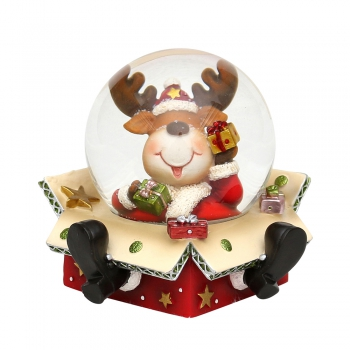 Snow globe reindeer in package
