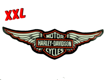 XXL Blechschild Schild Harley Davidson Motor Oil Gestanzt Retro Look Eagle Wings